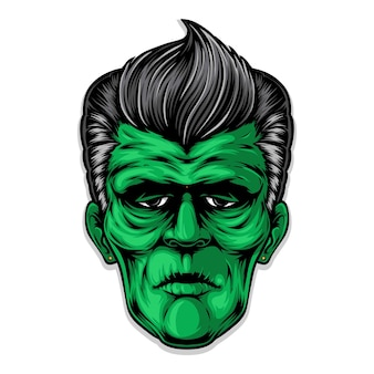 Frankenstein rockabilly kapsel kunstwerk