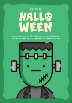 Frankenstein uitnodigingskaartsjabloon