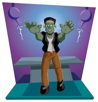 Frankenstein wordt voor het eerst wakker