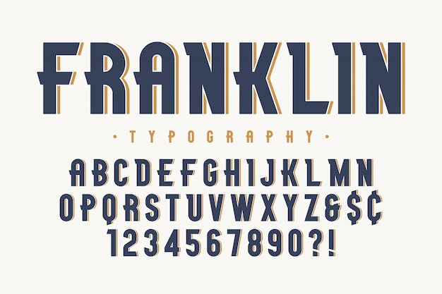 Franklin trendy vintage display lettertype ontwerp