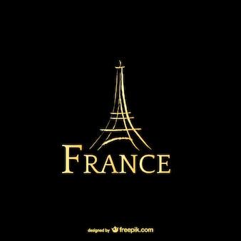 Frankrijk en eiffeltoren logo