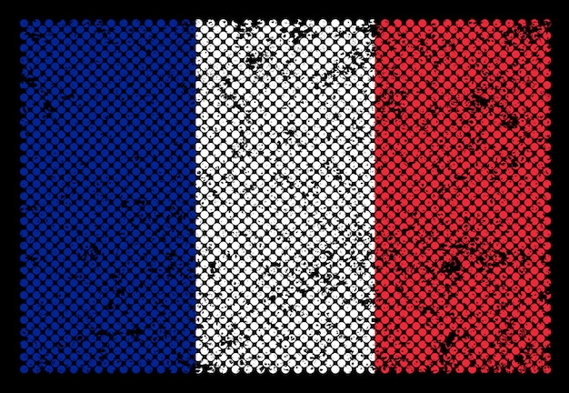 Frankrijk grunge vlag