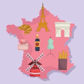 Frankrijk kaart en cultuur