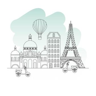 Frankrijk parijs architectuur
