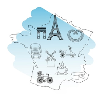 Frankrijk parijs kaart