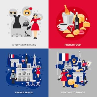 Frankrijk platte set