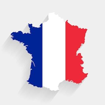 Frankrijk vlag kaart