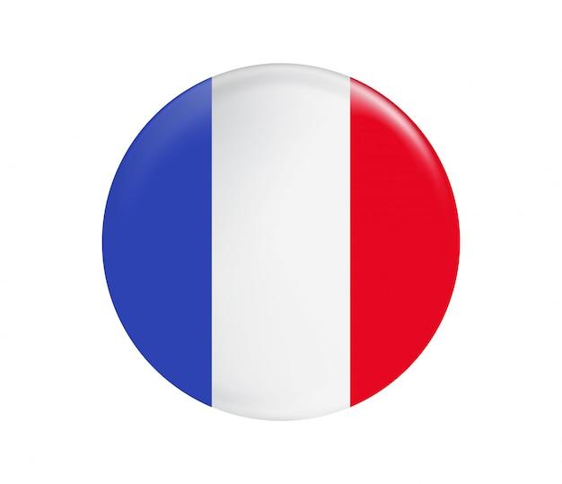 Frankrijk vlag knop.