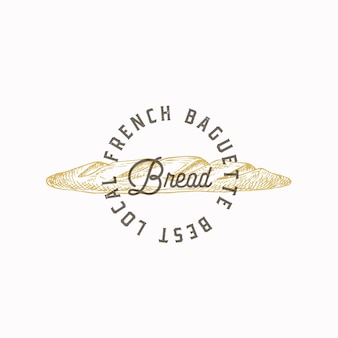 Frans stokbrood brood abstract teken symbool of logo sjabloon