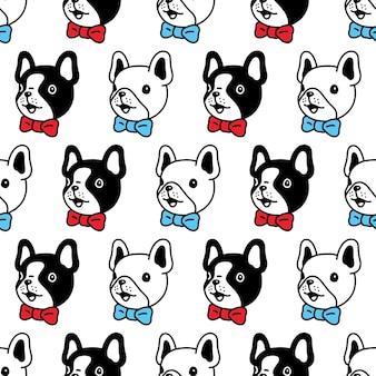Franse bulldog naadloze patroon