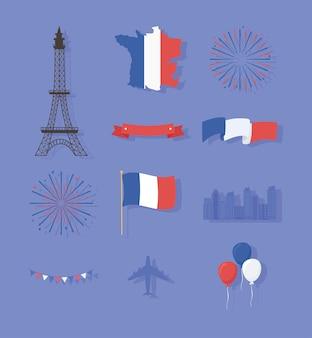 Franse symbolen set