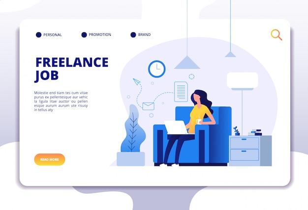 Freelance job-bestemmingspagina