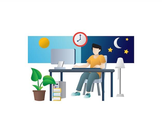 Freelancer werk concept