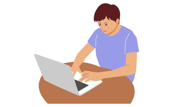 Freelancer werkt vanuit huis
