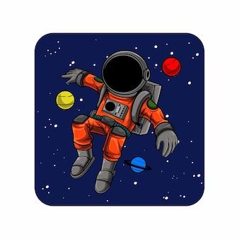 Freestyle astronauten vliegen in de ruimte