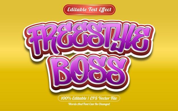 Freestyle bewerkbare teksteffect graffiti-stijl