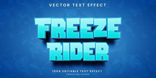 Freeze rider bewerkbaar teksteffect