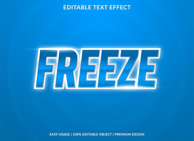Freeze teksteffect sjabloon premium stijl