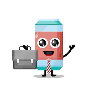 Frisdrank werk schattig karakter mascotte