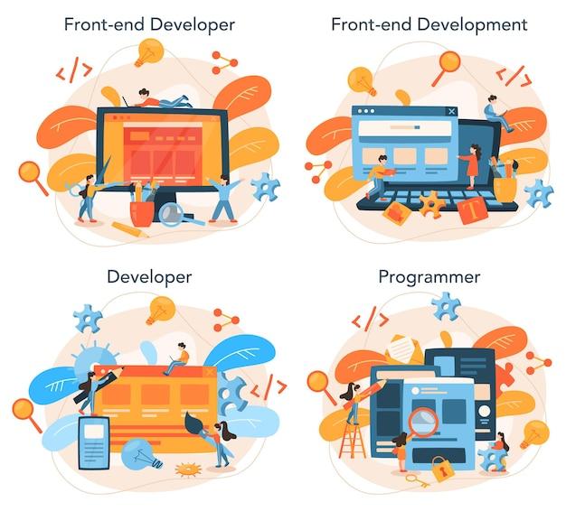 Front-end ontwikkelingsconceptenset