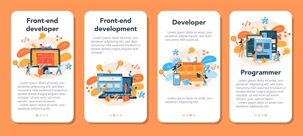 Frontend ontwikkeling mobiele applicatie banner set
