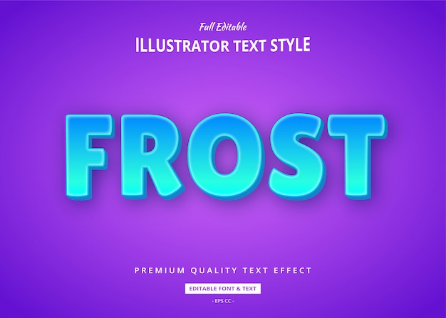 Frost blue text style effect