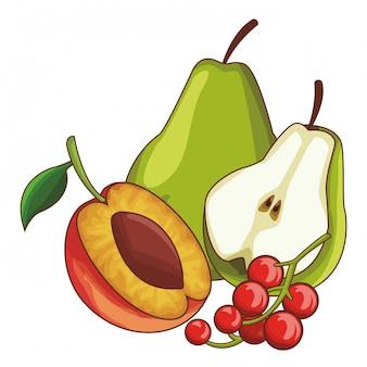 Fruit ingesteld pictogram