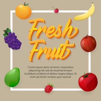 Fruit met eenvoudige kleur