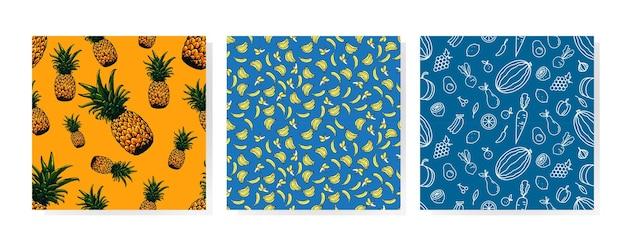 Fruit naadloos patroon kunstontwerp