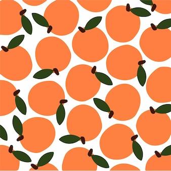 Fruit patroon achtergrond sociale media post vectorillustratie