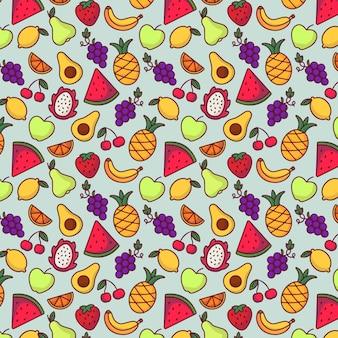 Fruit patroon achtergrond
