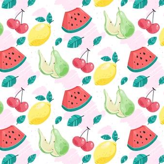 Fruit patroon collectie concept