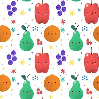 Fruit patroon met appels