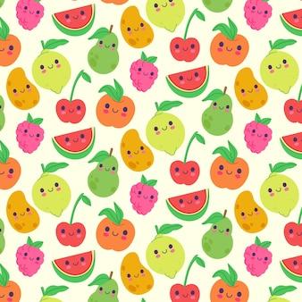 Fruit patroon met citroenen