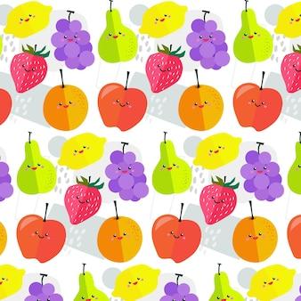 Fruit patroon met peren