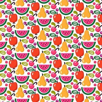 Fruit patroon met watermeloen