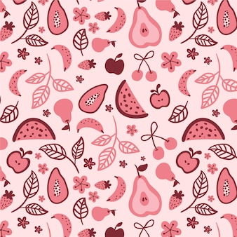 Fruit patroon set