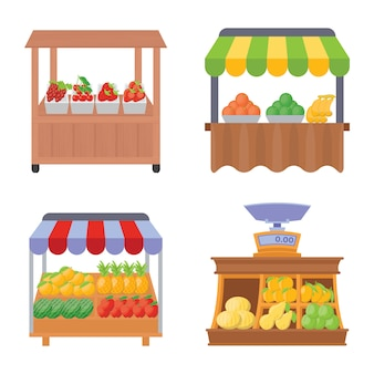 Fruit street stall premium