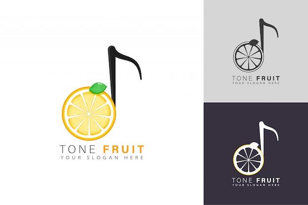 Fruit toon logo ontwerp