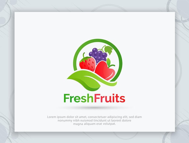 Fruit winkel vector logo ontwerp
