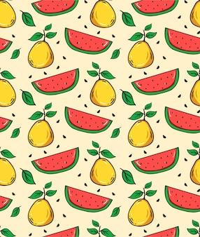 Fruit zomer naadloze patroon