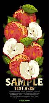 Fruitmix met bladeren