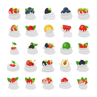 Fruitroom plat pictogrammen