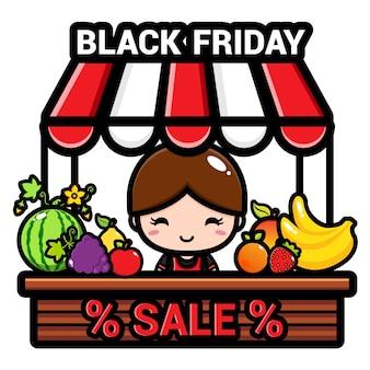 Fruitwinkel op zwarte vrijdag