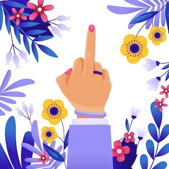 Fuck you-symbool in komische stijl