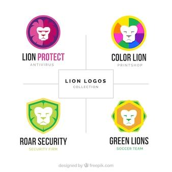Full-color leeuwen logo's