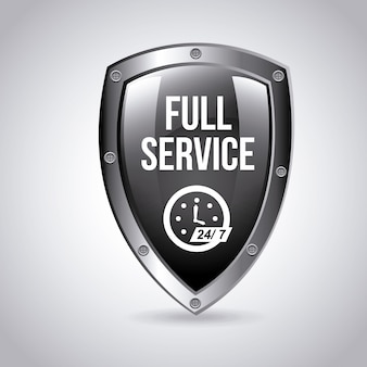 Full-service embleem