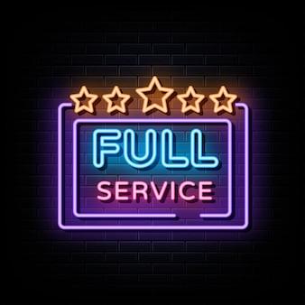 Full-service neon teken vector teken symbool