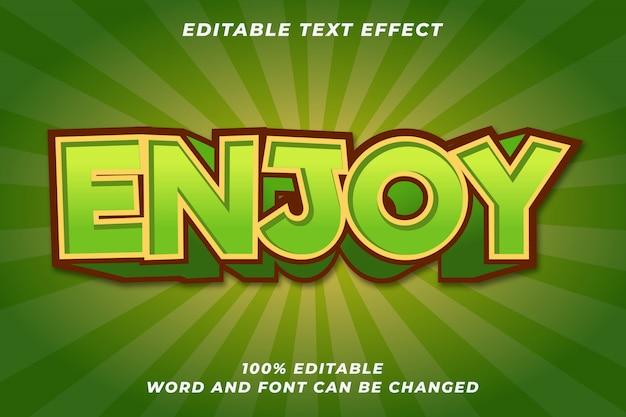 Fun enjoy game tekststijl effect