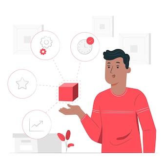 Functies overzicht concept illustratie
